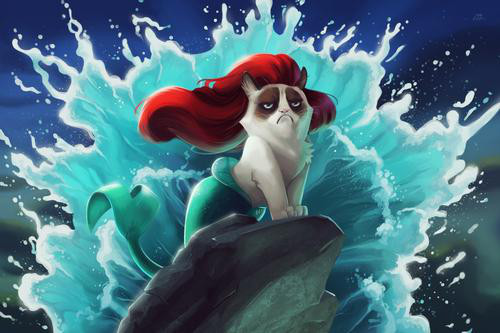 grumpcat mermaid